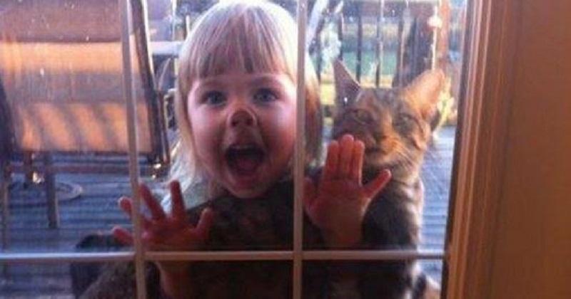 11 fotos de crianças com seus gatos